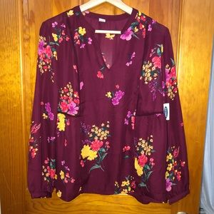 NWT floral Old Navy blouse